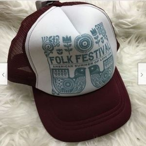 O'Neill Folk Festival Trucker Hat Burgundy White